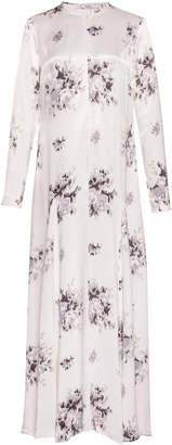 Ganni Cameron Floral-Print Satin Maxi Dress
