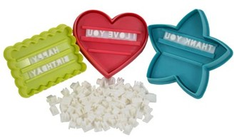 Southern Homewares Message In A Cookie Cutter Holiday Kit - 98 Piece Set