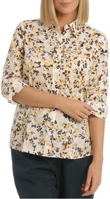 Neutral Mottled Floral Catherine Shirt