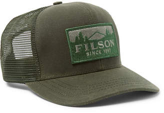 Filson Logger Logo-Appliqued Cotton-Twill and Mesh Baseball Cap - Men -  Green b4407481e9a6