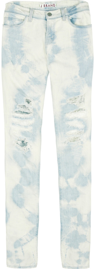J Brand Bleached ripped jeans