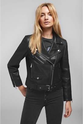 Anine Bing Jett Leather Jacket - Black
