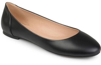 Brinley Co. Women's Comfort Sole Faux Leather Round Toe Flats