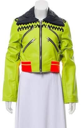 Martina Spetlova Leather Woven Jacket w/ Tags