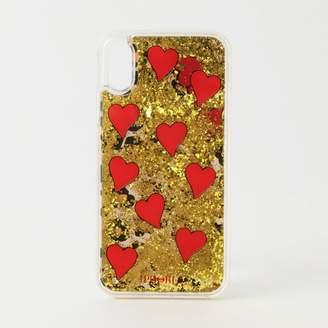 GUILD PRIME (ギルド プライム) - ギルドプライム 【IPHORIA】iPhoneケース(iPhoneX対応)-LEO WITH RED HEARTS LIQUID CASE-