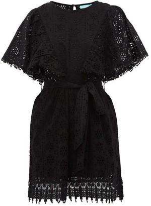 Melissa Odabash Kara Broderie Anglaise Cotton Mini Dress - Womens - Black