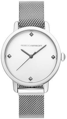 Rebecca Minkoff Bffl Silver Tone Mesh Bracelet Watch, 36Mm
