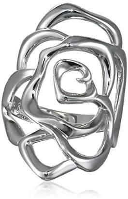 Babette Wasserman Small Silver Rose Ring - Size L