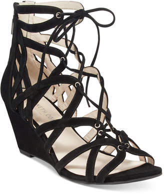 Kenneth Cole New York Women Dylan Lace-Up Wedge Sandals Women Shoes