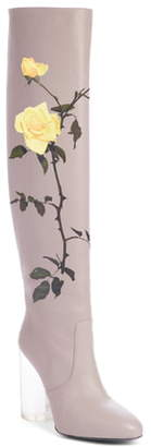 Dries Van Noten Floral Over the Knee Boot