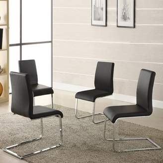 Inspire Q Wragby Black Contoured Modern Dining Chairs (Set of 4)