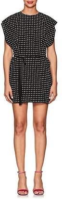 Saint Laurent Women's Star-Print Silk Shirtdress - Black