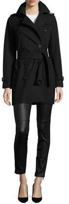 Burberry The Kensington - Mid-Length Heritage Trench Coat $1,795 thestylecure.com