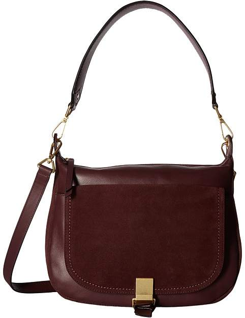Vera Bradley Carson Shoulder Bag Shoulder Handbags - BITTERSWEET CHOCOLATE - STYLE