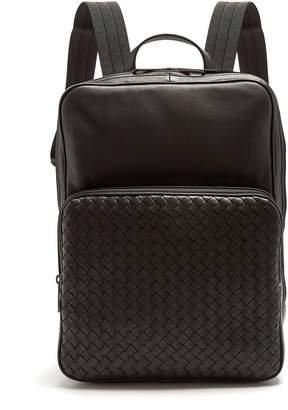 COM · Bottega Veneta Intrecciato leather backpack 89fee448de078
