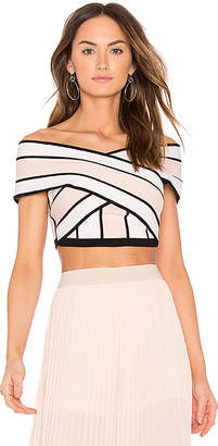 Endless Rose Striped Off the Shoulder Crop Top in Pink $78 thestylecure.com