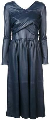 Joseph midi leather dress