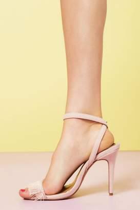 Jaggar Footwear Fringe Suede Pink