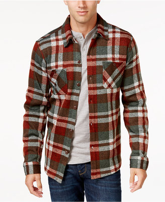 Weatherproof Vintage Men's Big and Tall Plaid Fleece Shirt Jacket, Classic Fit $85 thestylecure.com