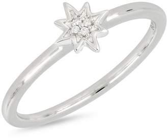 Bony Levy 18K White Gold Diamond Star Ring - 0.01 ctw