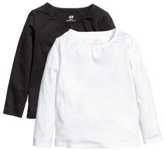 H&M 2-pack Jersey Tops - White