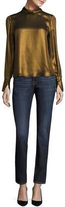 Peserico Women's Le Nouveau Straight Medium Wash Jeans - Dawson Blue, Size 26 (2-4)