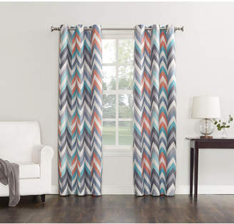 """Sun Zero Cade Thermal Lined Curtain 40"""" x 84"""" Panel"""