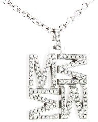 India Hicks Love Letters in Silver and Pave Diamonds - M