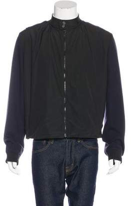 Lanvin Woven-Paneled Wool Jacket