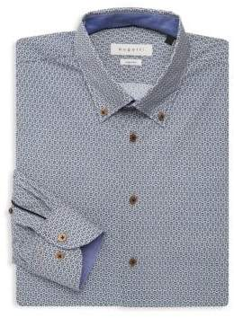 Bugatti Mosaic Print Dress Shirt