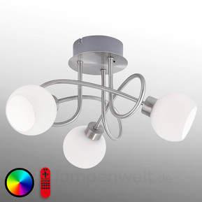 Lola-Lotta - schwungvolle Deckenlampe m. RGB-LEDs