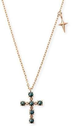 Stevie Wren 14k Small Diamond Cross & Star Pendant Necklace