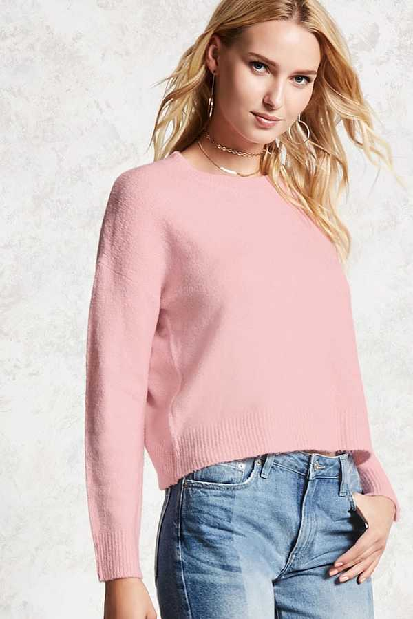 FOREVER 21+ Drop-Shoulder Sweater