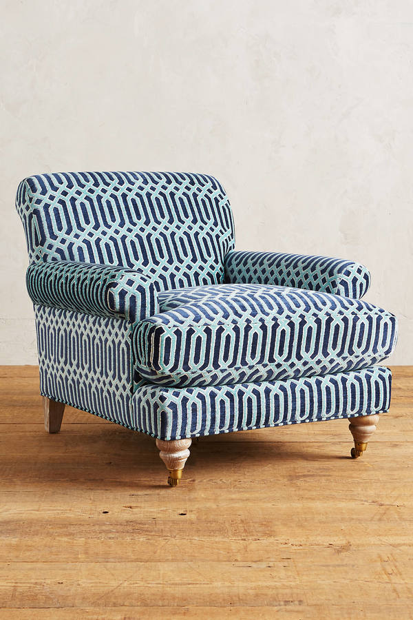 Anthropologie Anthropologie Trellis-Woven Willoughby Ottoman