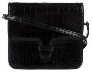 Alaia Embossed Sac Ferme Crossbody Bag