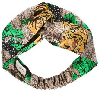 Gucci tiger print headband