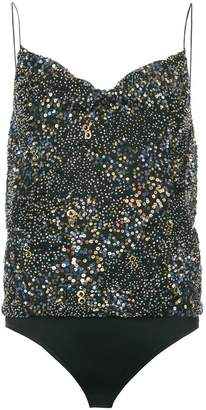 Cushnie et Ochs sequinned cowl neck body