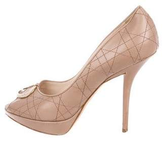 Christian Dior Leather Cannage Pumps