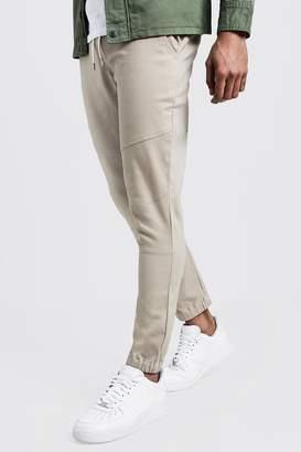 boohoo Skinny Cuffed Chino Pants With Drawcord Waist