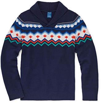 Arizona Boys Round Neck Long Sleeve Pullover Sweater