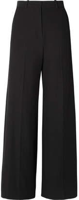 See by Chloe Stretch-twill Wide-leg Pants - Black