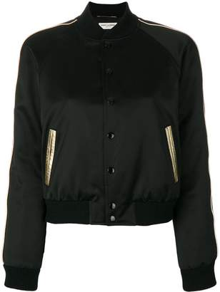 Saint Laurent sateen teddy bomber jacket
