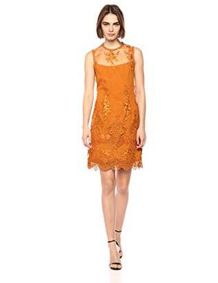 Nanette Lepore Nanette Women's Slvls Mock Neck Lace Sheath