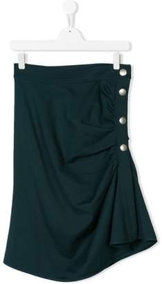 Marni TEEN asymmetric buttoned skirt