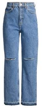Sandro H18 Fluffy Distressed Jeans