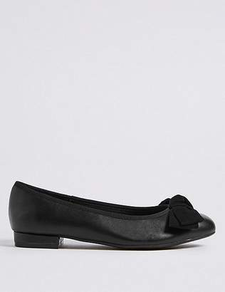 Marks and Spencer Extra Wide Fit Bow Ballet Pump Shoes