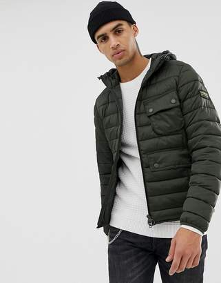 International Ousten hooded quilted jacket in olive