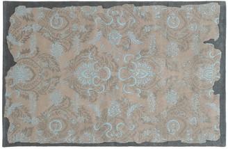 Blue Area Pantone Universe PANTONE UNIVERSE Color Influence Eroded Ornate Floral Rug
