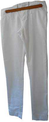 Madame à Paris White Cotton Trousers for Women