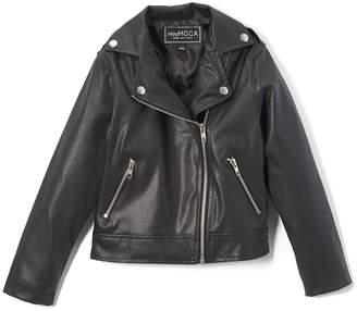 Mini Moca Girls' Moto Jacket
